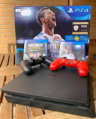 Playstation 4 (PS4) 1 Tb - 2 mandos y 2 juegos