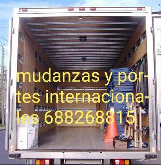 mudanzas TLF 688268815 y portes internacionales