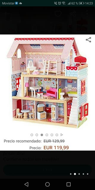 casita de madera de muñecas
