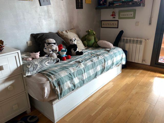 Cama canapé 90 color blanco