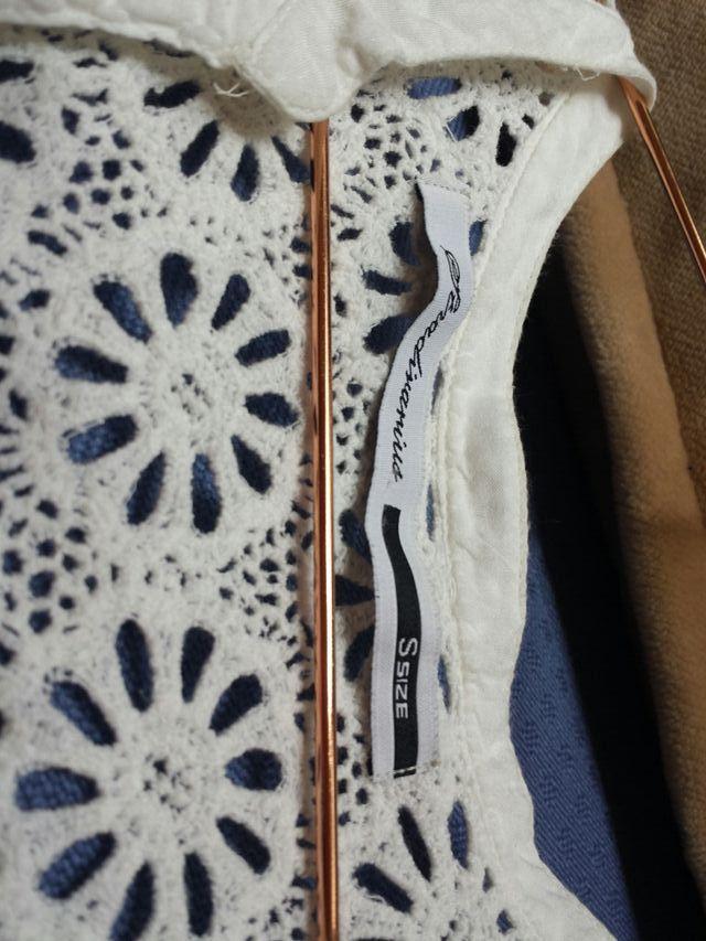 blusa blanca talla s stradivarius