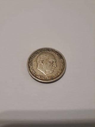moneda de 5 pesetas 1957