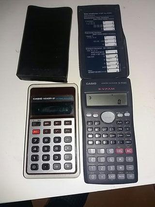 2 calculadoras Casio