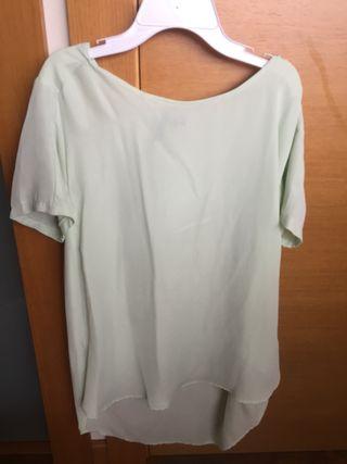 Blusa verde pastel zara