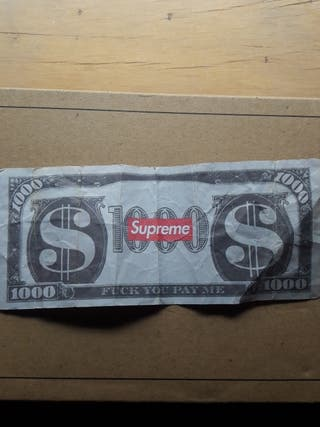 Billete de Supreme 1000$
