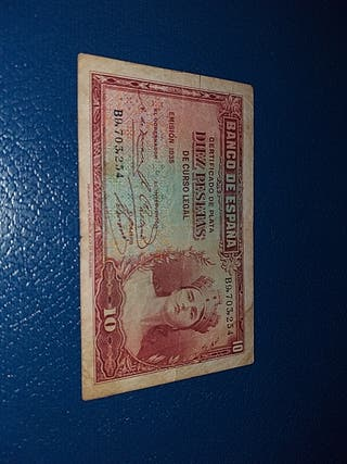 billete 10 ptas