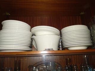 3 vajillas completas de porcelana