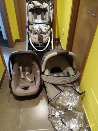 Trio bebe confort Elea + Isofix y silla coche