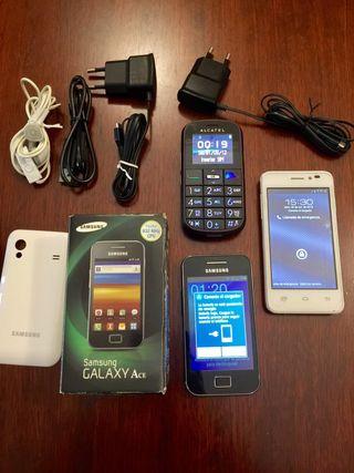 Móviles Samsung, Alcatel y Prestigio