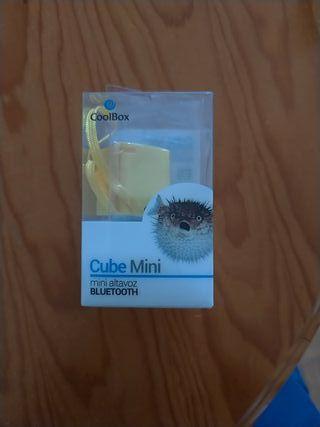 coolbox cine mini altavoz bluetooth nuevo amarillo