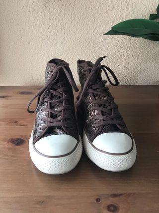 Zapatillas lentejuelas marrones Friday's Project