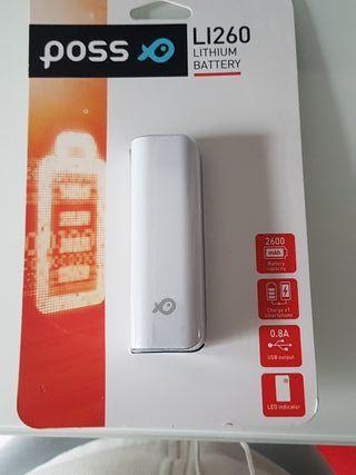 Bateria externa de litio. 2.600mAh. USB