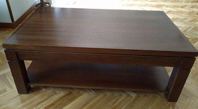 Mesa de centro madera de roble