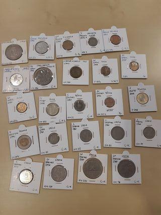 lote de 24 monedas de Europa. todas diferentes.