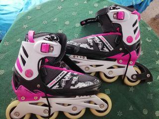 patines en línea con protecciones