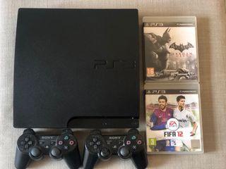 PS3 + 2 mandos + 2 juegos