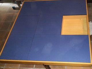 mesa de centro con cajon interior