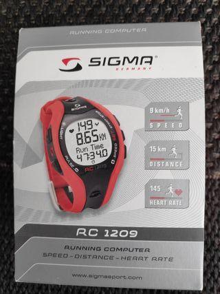 Pulsómetro Sigma RC 1209 con banda pectoral