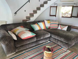 Sofa con chaise longue Gris