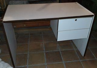 escritorio, madera formica, blanca