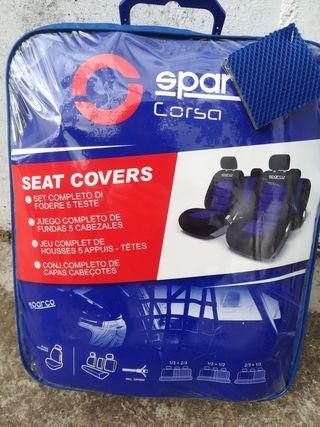 cubre asientos coche Sparco Corsa blue