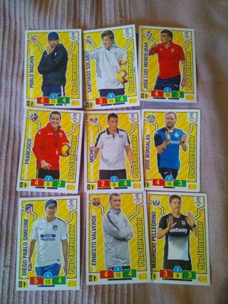 13 entrenadores de cartas fútbol 2018/19