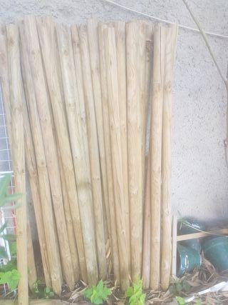 Estacas madera tratada