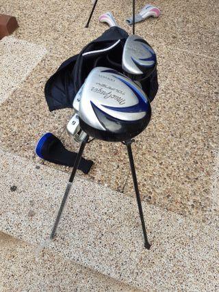 Juego palos de golf niño 9 a 12 años