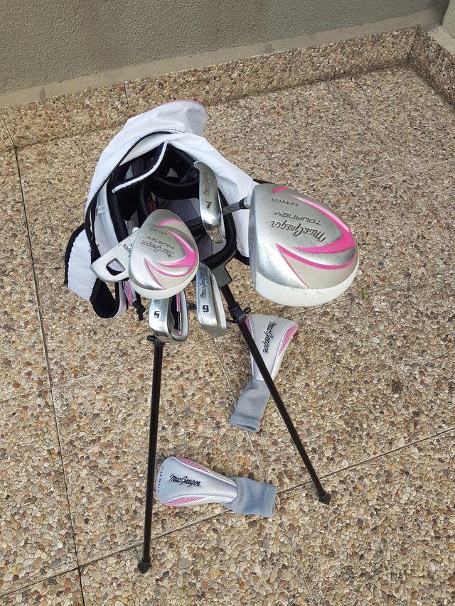 Juego palos de golf niña 9 a 12 años