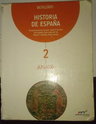 Libro de Historia de España de 2º de Bachillerato