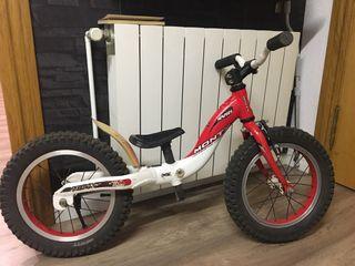 Bicicleta Monty sin pedales