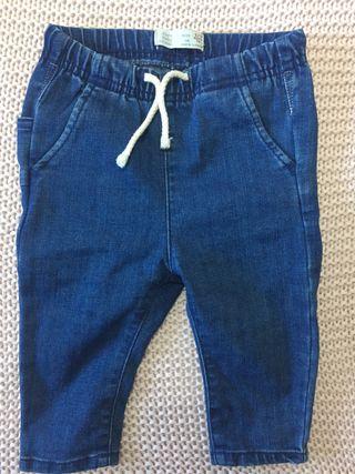 Pantalón bebe vaquero 6 - 9 meses, 74 cm
