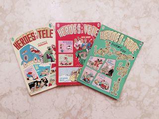 """3 cómics """"Héroes de la tele"""""""