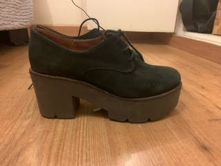 Zapatos plataforma ante