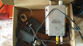 receptor señal, sintonizador y cámara vigilancia