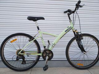 Bicicleta chica hibrida btwin barra baja