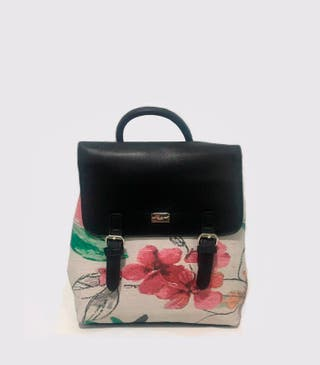 NEW. Mini mochila combinado estampado. Nuevo.