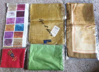 5 pañuelos seda