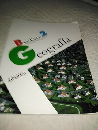Libro Bachillerato 2 Geografía de Anaya