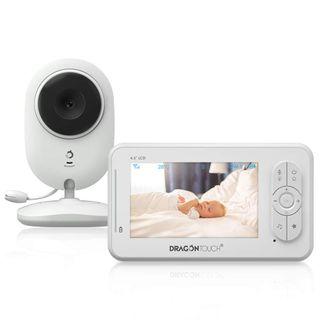 C/ámara Visi/ón Nocturna Leting Vigilabeb/és Inal/ámbrico Monitor Inteligente para Beb/é con LCD 3.5