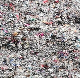 Relleno textil prensado
