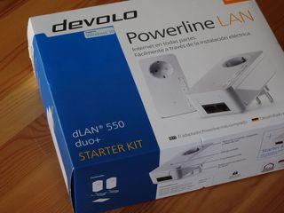 dLAN 550 duo+ Devolo PLC, con salida USB