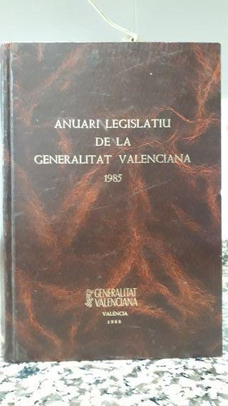Anuario Legislatiu Generalitat Valenciana 1985.