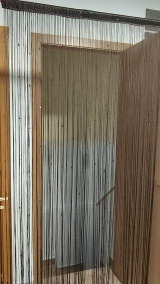 cortina de hilo con cuentas