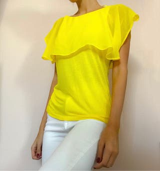 camisa paisley zara amarilla