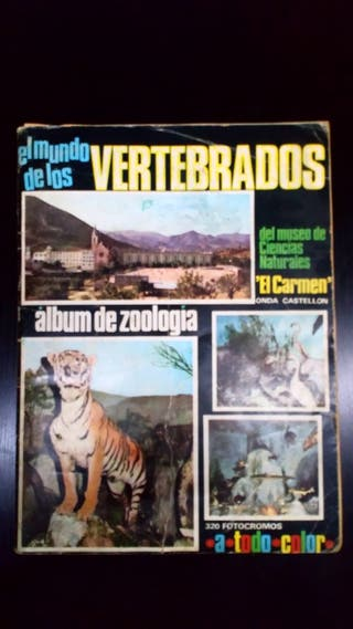 """Àlbum de cromos """"El mundo de los vertebradors"""""""