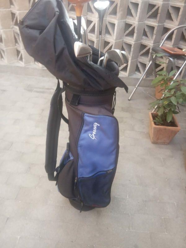 Bolsa de golf + juego de palos