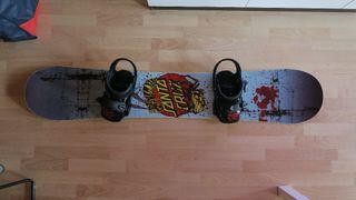 Tabla de snowboard + fijaciones