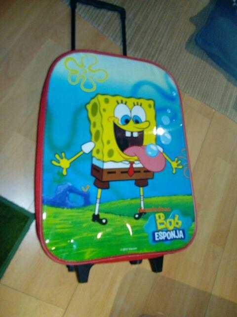 maleta trolley niños bob esponja
