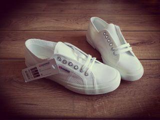Zapatillas Superga blancas talla 40 - nuevas!